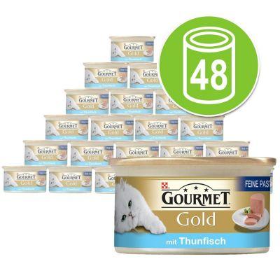 Purina Gourmet Gold Mousse 48 x 85 g - Pack Ahorro - Pescados del océano (con atún)
