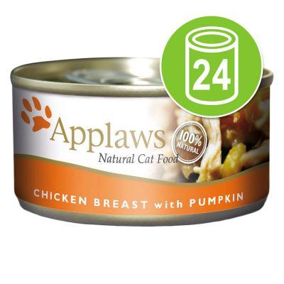 24 x 156 g Applaws zoutwatervis Voordeelpakket Kattenvoer