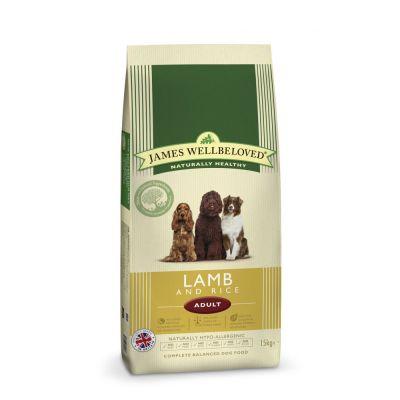 James Wellbeloved Adult Lamb & Rice – Ekonomipack: 2 x 15 kg