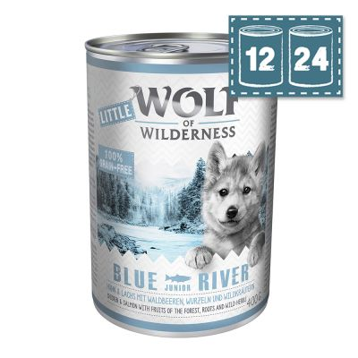 "Sparpaket - Little Wolf of Wilderness Junior ""Blue River"" - Huhn und Lachs"
