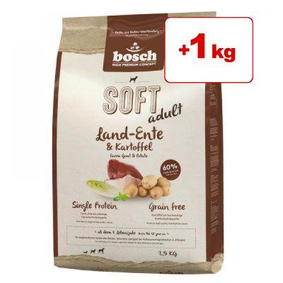 Bosch HPC -koiranruoka: 1,5 kg + 1 kg kaupan päälle! - Soft Duck & Potato