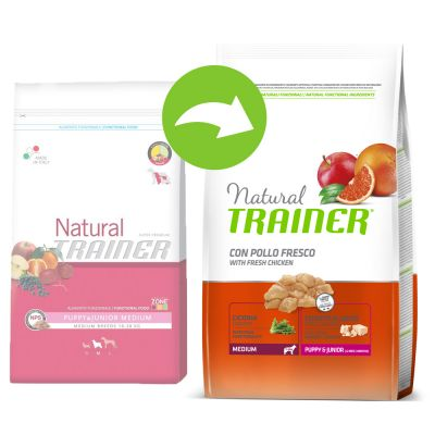 Trainer Natural Medium Puppy & Junior - säästöpakkaus: 2 x 12 kg