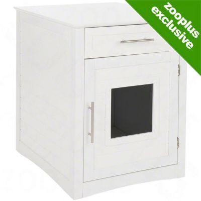 Multi Purpose Wooden Pet Den - White - White: 56.5 X 53 X 64.5 Cm (l X W X H)