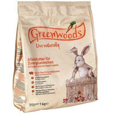 Pokarm Greenwoods dla królików miniaturowych - 1 kg