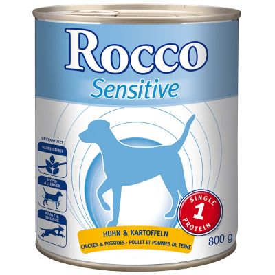 Megapakiet: Rocco Sensitive, 24 x 800 g - Jagnięcina z ryżem