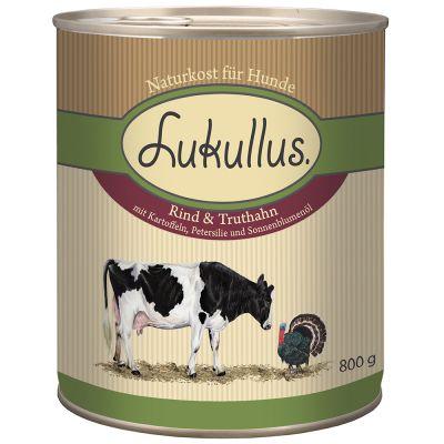 Lukullus Natural, wołowina i indyk - 6 x 400 g