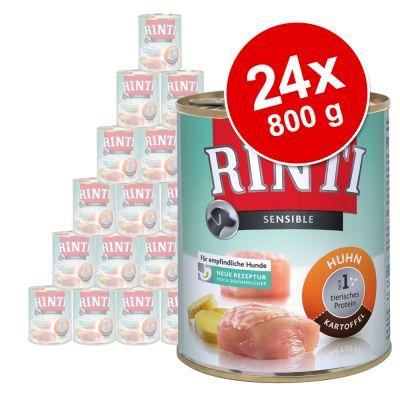 Rinti Sensible -säästöpakkaus 24 x 800 g - lammas & riisi