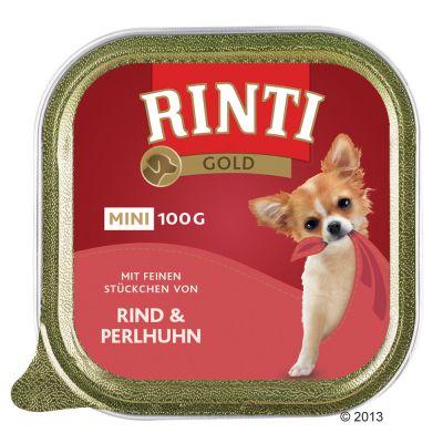 Rinti Gold Mini 6 x 100 g – Nötkött & pärlhöns