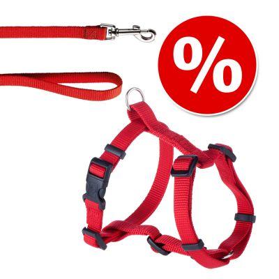 HUNTER Ecco Sport Vario Rapid: valjaat + talutushihna, punainen - valjaat S-M + talutushihna 200 cm