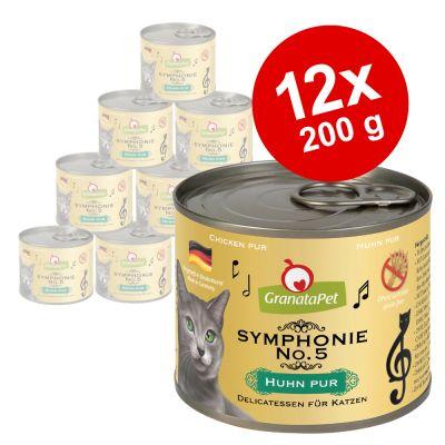 GranataPet Symphonie -säästöpakkaus 12 x 200 g - sekoitus, 6 makua