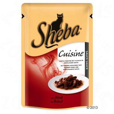 Sheba Cuisine 6 x 85 g – Fylliga bitar med kalkon i gelé