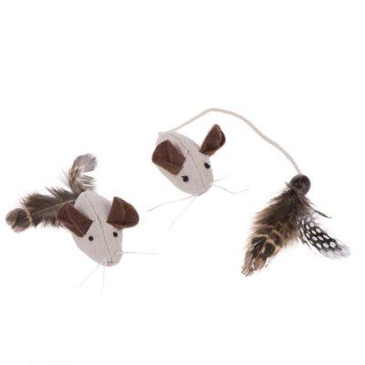 kattenspeelgoed-muizen-met-veren-natuurlijk-2-stuks
