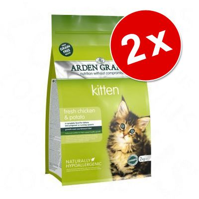 Lot Arden Grange pour chat - Light poulet, pommes de terre (2 x 4 kg)
