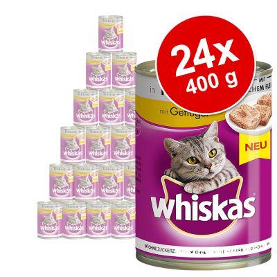 Ekonomipack: Whiskas 1+ burkar 24 x 400 g – 1+ Terrin med fjäderfä