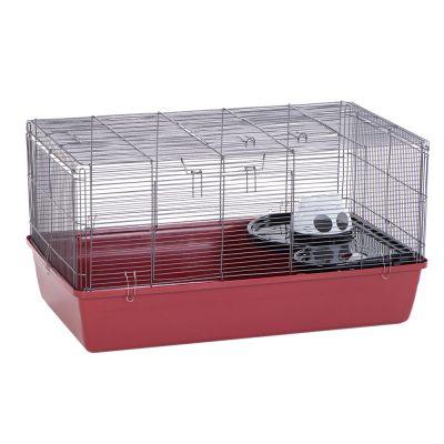 Alaska-hamsterinhäkki - punainen: P 85 x L 48,5 x K 44 cm
