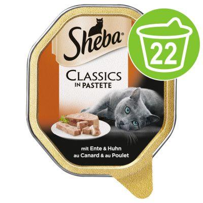 Sheba-rasiat 22 x 85 g - Classics in Pate, ankka & kana