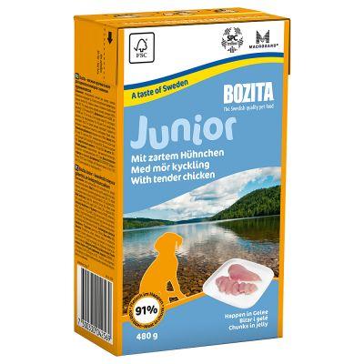 Bozita bitar i gelé Junior Kyckling – 6 x 480 g