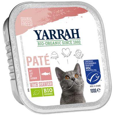 Yarrah Organic Pate 6 x 100 g - lohi & merilevä