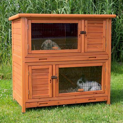 Trixie Natura kaninbur 2 in 1 med isolering – L 116 x D 65 x H 113 cm (2 paket*)