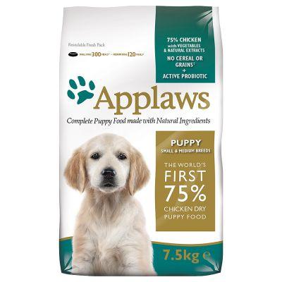 Applaws Puppy Small & Medium Breed, kurczak - 7,5 kg