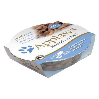 Applaws Cat Pot -märkäruoka 10 x 60 g - tonnikalafile & rapu
