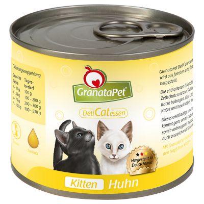 GranataPet DeliCatessen Kitten Kyckling – 6 x 200 g