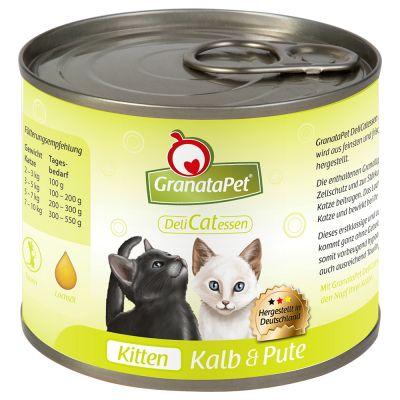 GranataPet DeliCatessen Kitten Kalv & kalkon – 6 x 200 g