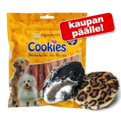 6 x 200 g Cookie's Delikatess -purutikkuja + Dotti-plyysilelu kaupan päälle! - 6 x 200 g