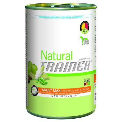 Trainer Natural Adult Maxi, 6 x 400 g - Wołowina, ryż i żeń-szeń