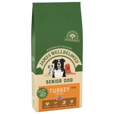 James Wellbeloved Senior Turkey & Rice - 15kg