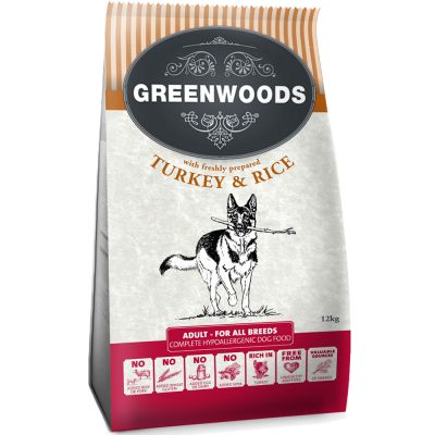 Greenwoods Adult Turkey & Rice - 2 kg
