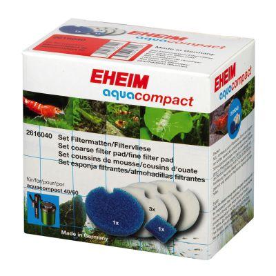 EHEIM Aquacompact 40/60 set filterfleece/filtermatta – 1 set (5 delar)