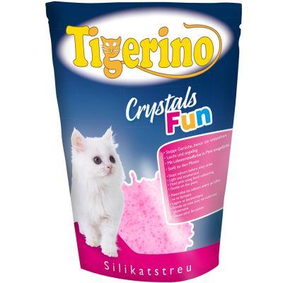 Tigerino Crystals Fun bont kattengrit Voordeelpakket blauw 3 x 5 l