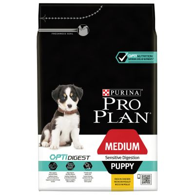 PRO PLAN Medium Puppy Sensitive Digestion OPTIDIGEST - 12 kg