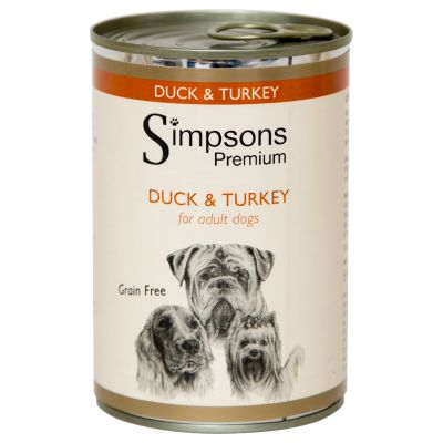 Simpsons Premium Duck & Turkey Casserole with Organic Vegetables - 6 x 400g