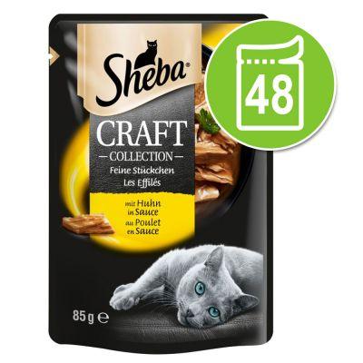 Sheba Craft Collection -säästöpakkaus 48 x 85 g - kalalajitelma kastikkeessa