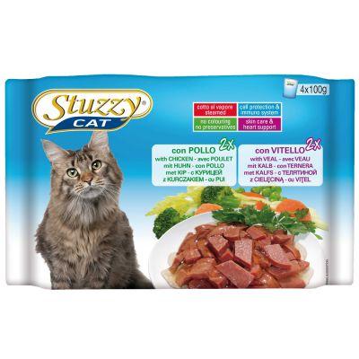 Stuzzy Cat Pouch -lajitelma 4 x 100 g - kinkku & naudanliha