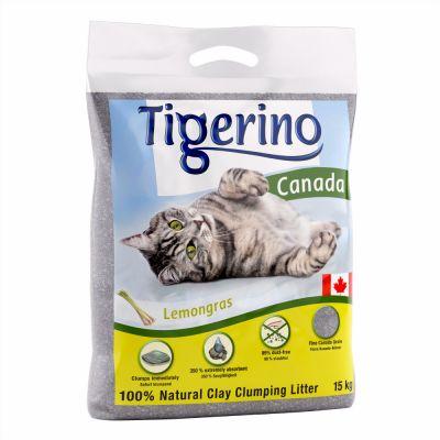 Tigerino Canada -kissanhiekka, sitruunaruohontuoksuinen - säästöpakkaus: 2 x 12 kg