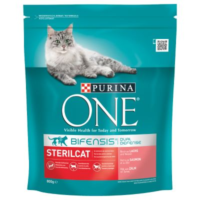 Purina ONE Neutered Cat - Salmon - säästöpakkaus: 6 x 800 g