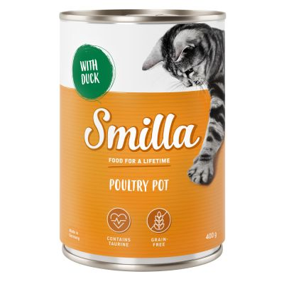 24 x 400 / 800 g Smilla konzervy za skvělou cenu! - hovězí s kachnou 24 x 400 g