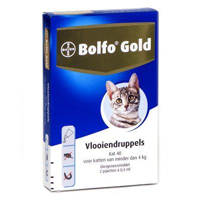 Bolfo® Gold 40 voor Katten Tot 4 kg - 2 Pipetten