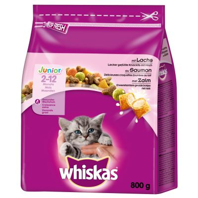 Whiskas Junior Salmon - 2 x 800 g