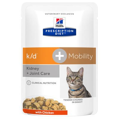 Hill's Prescription Diet Feline k/d + Mobility Kidney + Joint Care - kana - säästöpakkaus: 48 x 85 g