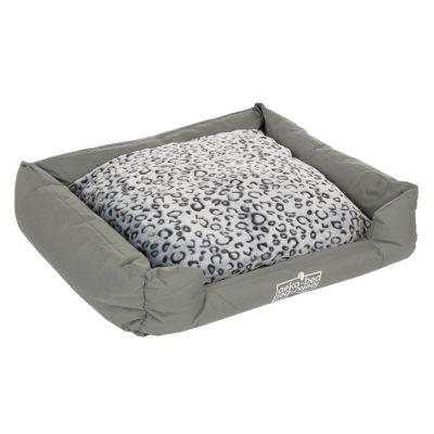 Oekobed-koiranpeti, leopardikuvioitu plyysi - P 120 x L 95 x K 28 cm (L-koko)