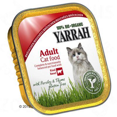 Yarrah - Yarrah Bio Brokjes in Saus Kattenvoer 6 x 100 g - Kip met Kalkoen