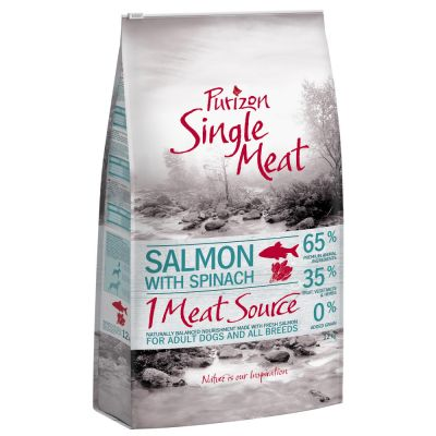 Purizon Single Meat Adult Salmon & Spinach - 12 kg