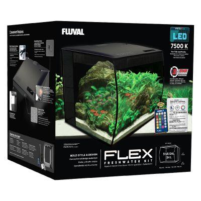 Fluval Flex Aquarienset - 34 Liter schwarz