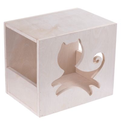 Kissanmaja seinälle - P 35 x L 25 x K 30 cm
