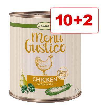 10 + 2 kaupan päälle! Lukullus Menu Gustico 12 x 800 g - kalkkuna, bataatti, kesäkurpitsa ja porkkana