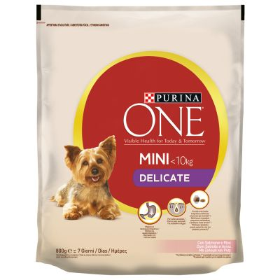 Purina ONE Mini Delicate Salmon Rice - 3 x 800 g